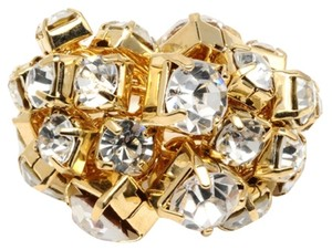 Amrita Singh Statement Ring Amrita Singh Gold With Clear Austrian Crystals