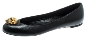 Alexander McQueen Leather Black Flats