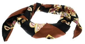 Gucci Black Printed Silk Square Scarf