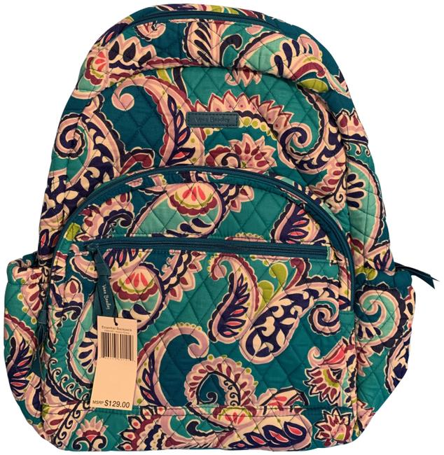 Item - Essential Laptop In Waikki Paisley Multicolor Cotton Blend Backpack