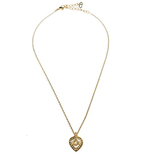 Dior Crystal Studded Gold Tone Necklace and Earrings Set Image 1