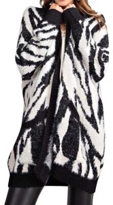 Easel Animal Print Zebra Cardigan Cardigan Sweater