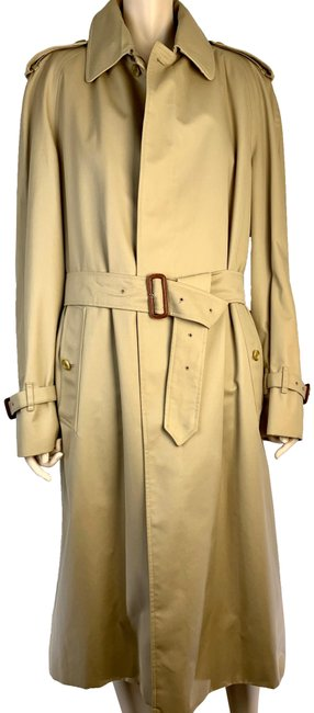 Item - Khaki Brown Mens Classic Trench Removable Nova Wool Lining 38 Coat Size OS (one size)