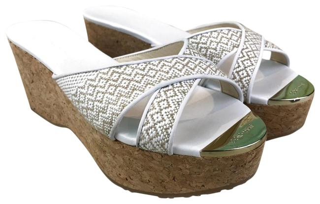 Item - White Woven Straw Prima Sandals Sale Wedges Size EU 39.5 (Approx. US 9.5) Regular (M, B)