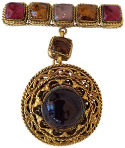 Chanel Chanel Vintage Gripoix Glass Brooch