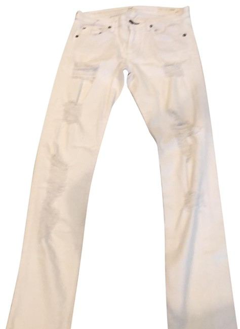 Item - White Distressed The Dre Skinny Jeans Size 4 (S, 27)