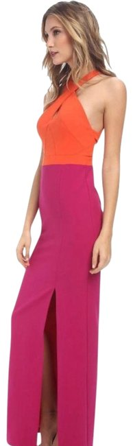 Item - Orange and Pink Cece With Long Formal Dress Size 4 (S)
