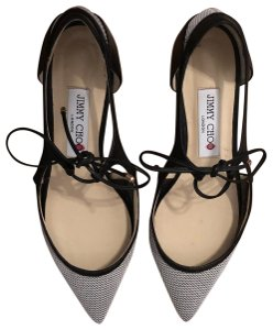Jimmy Choo black and white Flats