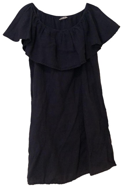 Item - Navy Off The Shoulder Mid-length Short Casual Dress Size 4 (S)