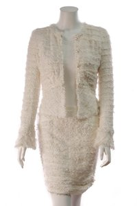 Chanel Chanel Tweed Skirt Suit - White Size 34