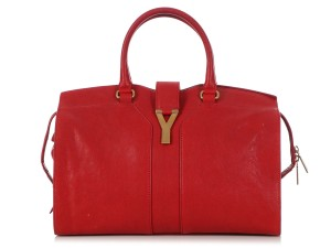 Saint Laurent Ys.q0411.12 Ysl Gold Hardware Ghw Tote in Red