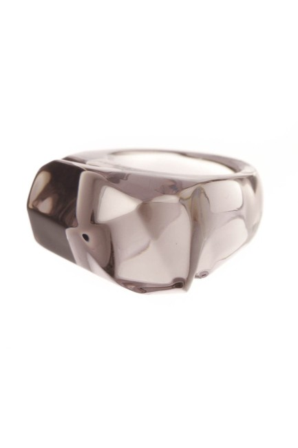 Baccarat Gray Mist Crystal - Size 6.5 Ring Baccarat Gray Mist Crystal - Size 6.5 Ring Image 1