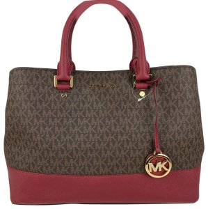 Michael Kors Satchel in Brown and Mulberry