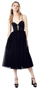 Fame and Partners Tulle Midi Bridesmaids Wedding Dress