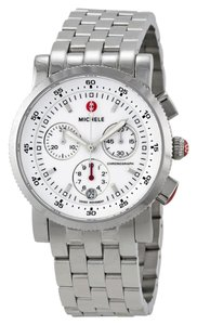 Michele Sport Sail Stainless Steel White Dial MWW01C000021