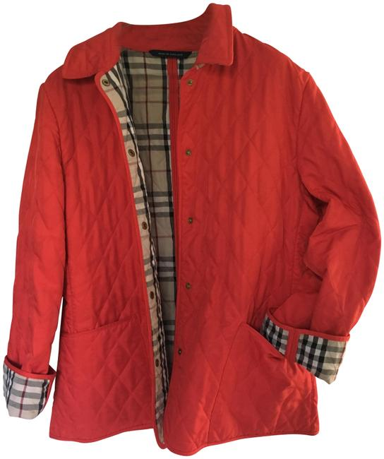 Item - Red London Quilted Coat Jacket Size 10 (M)