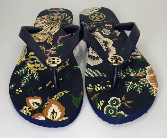 Tory Burch Rubber Flip Flop Thong Montauk Navy/Happy Times Sandals Image 1