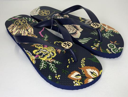Tory Burch Rubber Flip Flop Thong Montauk Navy/Happy Times Sandals Image 2