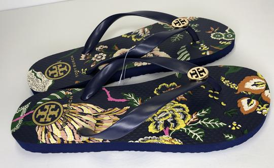 Tory Burch Rubber Flip Flop Thong Montauk Navy/Happy Times Sandals Image 3