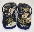 Tory Burch Rubber Flip Flop Thong Montauk Navy/Happy Times Sandals Image 4