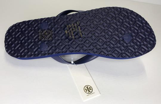 Tory Burch Rubber Flip Flop Thong Montauk Navy/Happy Times Sandals Image 5