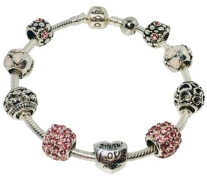 PANDORA Amor * Love * Amor | Iconic Pandora Bracelet with Silver Charms