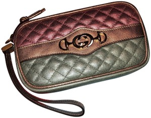 Gucci Clutch Wristlet in Pink and Blue Metallic