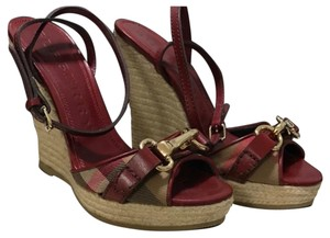 Burberry Red Sandals
