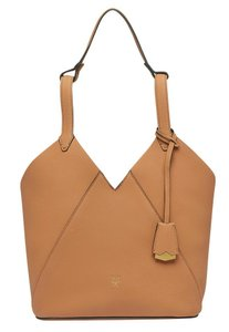 MCM Leather Brown Leather Tote in Caramel