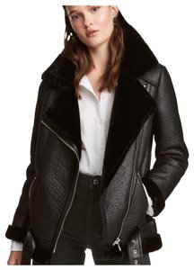 H&M black Leather Jacket