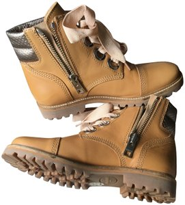 Zadig & Voltaire Eyelet Timberland Engraved Gold Hardware Silver Hardware tan Boots