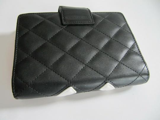 Chanel Chanel Cambon Quilited Agenda Black with White CC Image 1
