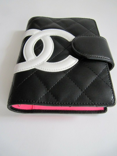 Chanel Chanel Cambon Quilited Agenda Black with White CC Image 2