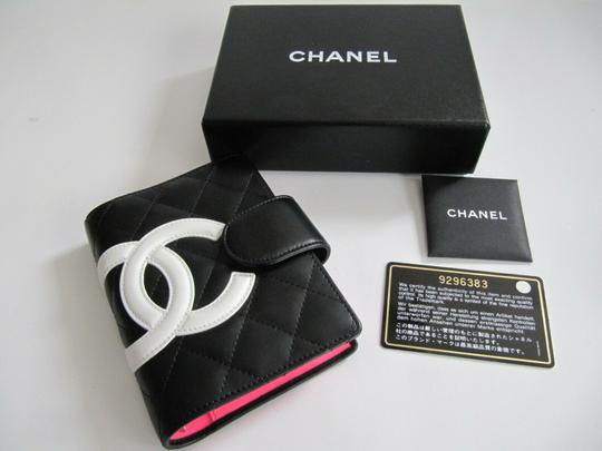 Chanel Chanel Cambon Quilited Agenda Black with White CC Image 6