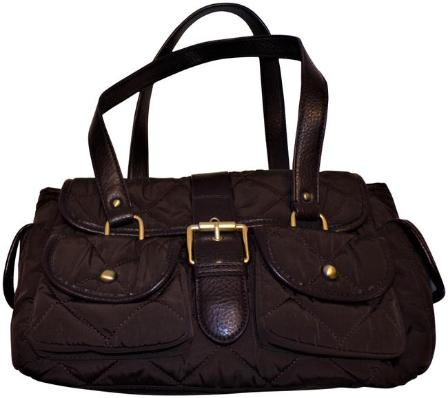 Item - Quilted Brown Fabric Satchel