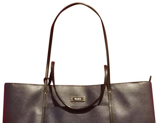 Item - Bag Sinclair + Navy Blue Leather Tote