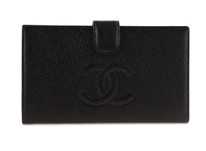 Chanel Chanel Timeless French Purse Wallet Black Caviar