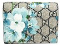 Gucci Gucci GG Blooms GUCCY Logo 524965 Leather GG Supreme Card Case Blue,Navy,White Image 0
