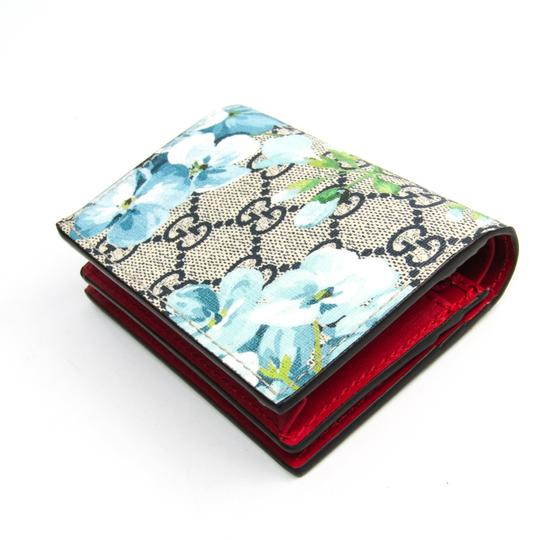 Gucci Gucci GG Blooms GUCCY Logo 524965 Leather GG Supreme Card Case Blue,Navy,White Image 1