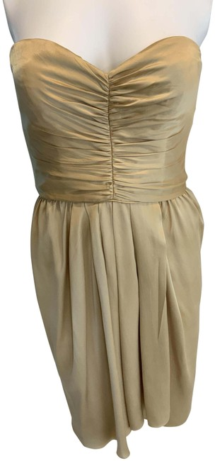 """Item - Gold """"Special Event"""" Mid-length Cocktail Dress Size 6 (S)"""