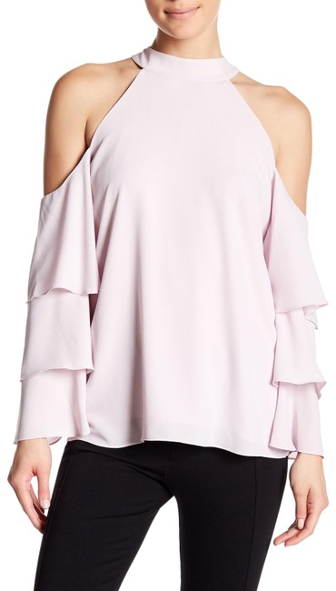 Item - Purple Cold Shoulder Tiered Sleeve Blouse Size 8 (M)