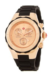 Michele Tahitian Jelly Silcone Stainless Steel Chronograph MWW12F000035 Watch