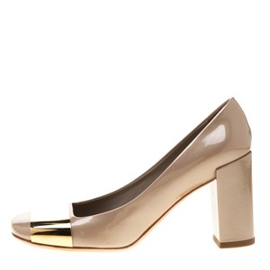 Louis Vuitton Patent Leather Beige Pumps