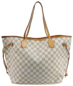 Louis Vuitton Neverfill Neverfold Neverfull Cream Ivory Tote in White