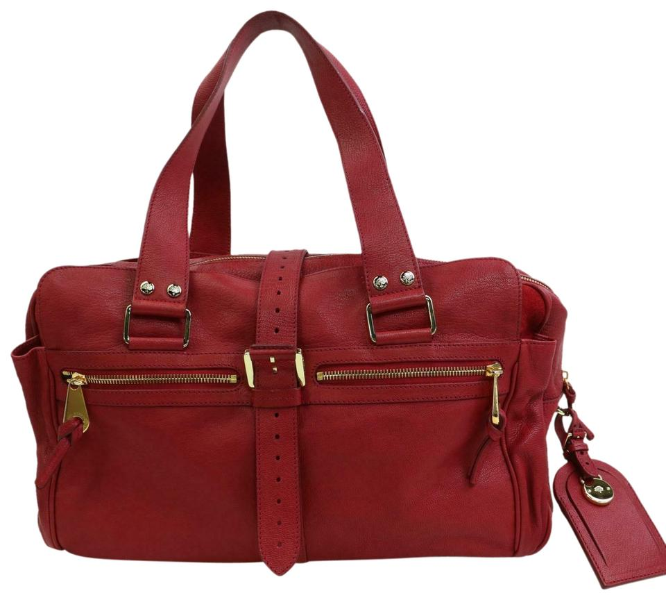 a few days away shop the best attitude Mulberry Mabel 871392 Red Leather Shoulder Bag 69% off retail