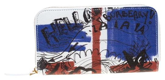 Preload https://img-static.tradesy.com/item/26018414/burberry-white-doodle-print-coated-canvas-zip-around-wallet-0-1-540-540.jpg