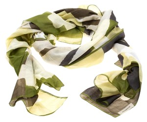 Burberry Multicolor Abstract Checked Cotton Scarf