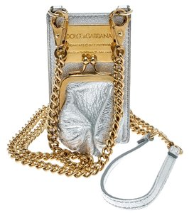 Dolce&Gabbana Silver Leather and PVC iPhone Case and Coin Purse