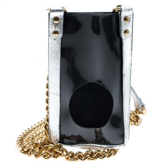 Dolce&Gabbana Silver Leather and PVC iPhone Case and Coin Purse Image 1