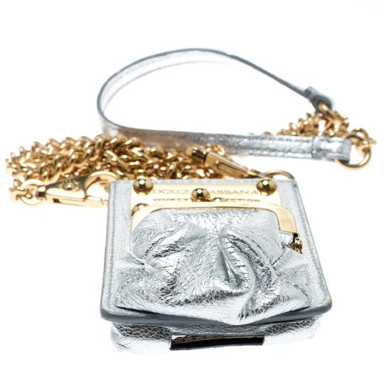 Dolce&Gabbana Silver Leather and PVC iPhone Case and Coin Purse Image 3